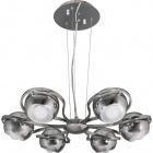 Ceiling Lamp CHIARA 6xE14 H.Reg.xD.60cm Silver/Chrome