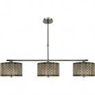 Ceiling Lamp TORONTO 3xE27 L.110xW.25xH.Reg.cm Chrome