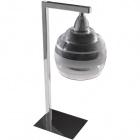 Table Lamp ULISES 1xE14 L.14xW.12xH.40cm Black/Chrome