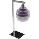 Table Lamp ULISES 1xE14 L.14xW.12xH.40cm Aubergine/Chrome