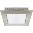 Plafond CAVA 2xE27 L.27xW.27xH.8cm Satin Nickel