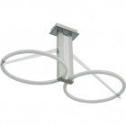 Ceiling Lamp ZAFIRO 2x2GX13 T5 circ. L.63xW.29,5xH.32cm Satin Nickel/Chrome