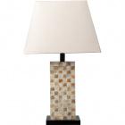 Table Lamp ALBUFEIRA 1xE27 L.36xW.20xH.60cm Beije/Pearl-Shell