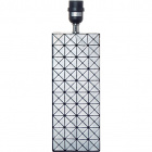 Base for Table Lamp PORTIMAO 1xE27 L.12xW.12xH.40cm Silver/Black