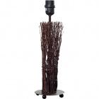 Base for Table Lamp VILAMOURA 1xE27 H.40xD.12,5cm Brown/Black