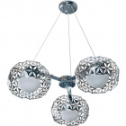Ceiling Lamp FLORAL 3xG9 H.Reg.xD.62cm Chrome