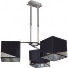 Ceiling Lamp DIAGONAL 3xE14 L.55xW.55xH.Reg.cm Black/Chrome