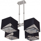 Ceiling Lamp DIAGONAL 4xE14 L.61xW.56xH.Reg.cm Black/Chrome