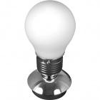 Table Lamp LUZ 1xE14 H.33xD.16cm White/Chrome