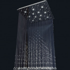 Ceiling Lamp ALICE 12xGU10 L.80xW.80xH.160cm Chrome