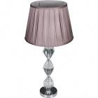 Table Lamp ALMA 1xE27 H.64,5xD.35cm Transparent/Chrome