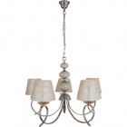 Ceiling Lamp NACAR 5xE14 H.Reg.xD.65cm Pearl-Shell/Chrome