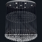 Ceiling Lamp INÊS 7xGU10 L.103xW.50xH.120cm Nickel-Plated Plate and Crystals Chrome