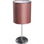 Table Lamp NICOLE 1xE14 H.38xD.16cm Chocolate/Chrome