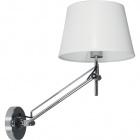 Wall Lamp CAPRICE 1xE27 L.26xW.48xH.Reg.cm White/Chrome