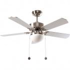 Ceiling Fan HERACLES 5 blades 2xE27 H.40xD.107cm Silver/Beech Wood