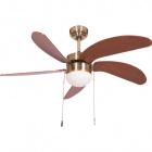 Ceiling Fan CIBELES 5 blades 1xE27 H.40xD.107cm Cherry