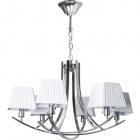 Ceiling Lamp INDIANA 6xE14 H.Reg.xD.70cm White/Chrome