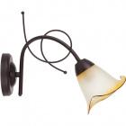 Wall Lamp MARSELLA 1xE14 L.14xW.27,5xH.20cm Brown