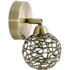 Wall Lamp KRIPTON 1xG9 W.19xH.10xD.10cm Antique Brass