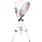 Table Lamp GUTENBERG small 1xE27 H.Reg.xD.28,5cm White/Chrome