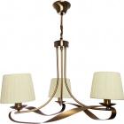 Ceiling Lamp CLEVELAND 3xE14 H.Reg.xD.56cm Antique Brass/Beije