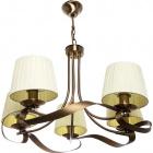 Ceiling Lamp CLEVELAND 5xE14 H.Reg.xD.60cm Antique Brass/Beije