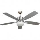 Ceiling Fan MENFIS 5 blades 2xE27 H.46xD.132cm Silver/Beech Wood/Satin Nickel