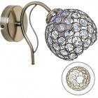 Wall Lamp Balbina 1xE27 L.13xW.24xH.18cm Antique Brass