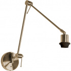 Wall Lamp HAIA articulated arm without lampshade 1xE27 L.13xW.94xH.Reg.cm Antique Brass