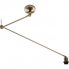 Ceiling Lamp HAIA articulated arm w/o lampshade 1xE27 L.13xW.90xH.Reg.cm Antique Brass