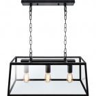 Ceiling Lamp NICOLAS 3xE27 L.68xW.27xH.Reg.cm Black