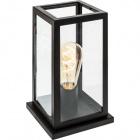 Table Lamp NICOLAS 1xE27 L.15xW.15xH.26cm Black