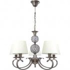 Ceiling Lamp HONDURAS 5xE14+1x5W LED H.Reg.xD.60cm Beije/Antique Brass