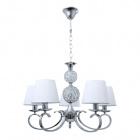 Ceiling Lamp HONDURAS 5xE14+1x5W LED White/Chrome