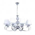 Ceiling Lamp HONDURAS 8xE14+1x5W LED White/Chrome
