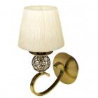 Wall Lamp HONDURAS 1xE14 Beije/Antique Brass