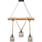 Ceiling Lamp SOGA 3xE27 L.98xW.22xH.Reg.cm Rope Brown