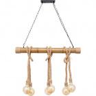 Ceiling Lamp SOGA 6xE27 L.98xW.15xH.Reg.cm Rope Brown