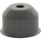 1*2 E27 cover for lampholder metal grey