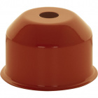 1*2 E27 cover for lampholder metal orange