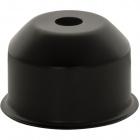 1*2 E27 cover for lampholder metal black