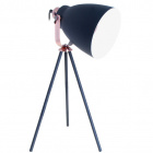 Table Lamp GETTING 1xE27 H.51xD.26cm Black/Copper