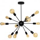 Ceiling Lamp DOLORES 12xE27 H.76xD.71cm Black