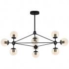 Ceiling Lamp EDITE 10xE27 H.79xD.105cm Black/Amber