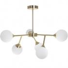 Ceiling Lamp ANALU 6xG9 H.45xD.60cm Gold/White