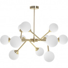 Ceiling Lamp ANALU 12xG9 H.56xD.70cm Gold/White