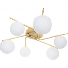 Ceiling Lamp ANALU 6xG9 H.17xD.60cm Gold/White