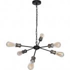 Ceiling Lamp ARYANA 6xE27 H.Reg.xD.52cm Black/Antique Brass