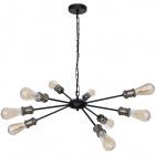 Ceiling Lamp ARYANA 9xE27 H.Reg.xD.65cm Black/Antique Brass